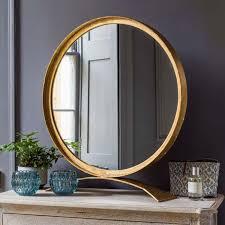 zandar gold table mirror