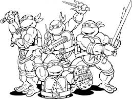 Small Picture Coloring Pages Teenage Mutant Ninja Turtles Cartoon Coloring Page