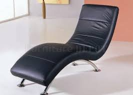 office chaise lounge chair. Black Color Leather Upholstery Modern Chaise Lounge Office Chair S