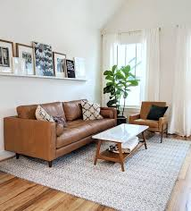 modern tan leather sofa living room