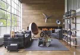 mango wood and black metal industrial