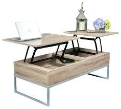 lift top desk. Lift Top Desk Coffee Table Computer Natural Brown Storage Contemporary