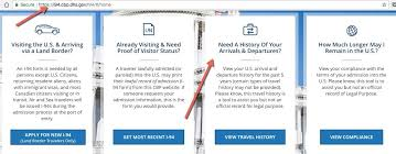 i 94 form to print how to check your us travel history i 94 online