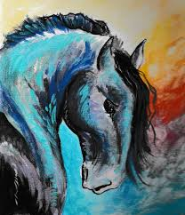 war horse acrylic painting graphic brewery