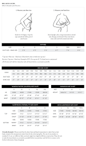 Bra Size Chart Bra Size Charts Skin Care Natural Skin Care