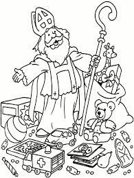 Kleurplaat Cadeautjes Sinterklaas