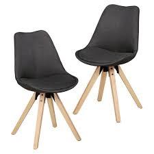 Stoelen Esszimmerstuhl Schwarz Küchenstuhl 2er Set Stühle