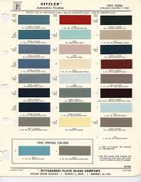Ford Falcon Colour Chart 1963 Ford Color Chips Car Paint Colors Paint Chips Color