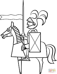 knights coloring pages free throughout knight