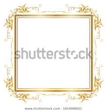 gold frame border design. Decorative Frame And Border For Design Of Birthday Greeting Card  Wedding, Golden Frame, Gold D