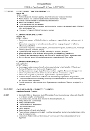 Ultrasound Resume Sample Ultrasound Technician Resume Samples Velvet Jobs 15