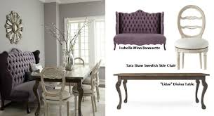 dining room banquette furniture. Isabella Wing Banquette Liday Dining Table Swedish Side Chair With Regard To Set Designs 4 Room Furniture