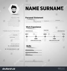 Minimalist Resume Minimalist Cv Resume Template Simple Design Stock Vector 100 76