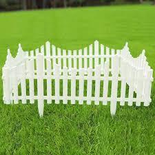 12 in decorative white plastic picket