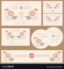 Vintage Wedding Invitation Beautiful Vintage Wedding Invitation Cards Vector Image