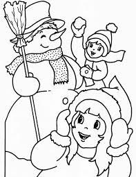 Kleurennu Kerst Sneeuwpoppen Kleurplaten