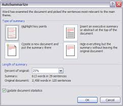 How To Create An Executive Summary In Word Easily Summarize A Word 2007 Document