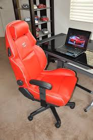 custom office chairs. Nissan 300ZX Custom Faux Leather Office Chair - Red W/ Gray Piping Chairs
