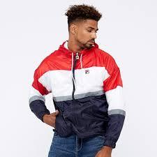 fila cedric rain jacket chinese red peacoat mens clothing lm1839aq 640
