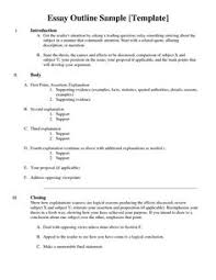 how to write an essay outline worksheet how to outline an essay  essay outline google search