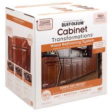 Rustoleum Kitchen Cabinets Rust Oleum Transformations Cabinet Wood Refinishing System Kit
