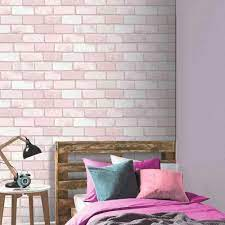 Arthouse Diamond Pink Brick Wallpaper ...
