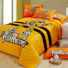 transformers printing duvet cover set blebee bed sheet cotton bedding set comforter cover flat sheet pillowcase
