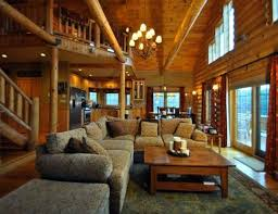 Log Cabin Living Room Interesting Log Cabin Living Room Home Design Ideas