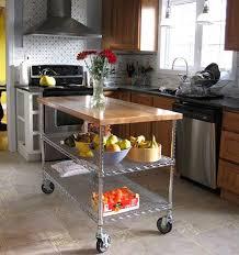 diy portable kitchen island. DIY Island Made From Metro Shelving And IKEA Butcher Block Diy Portable Kitchen B