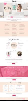 Pink Website Design Chic Pink Blush Black White Website Sales Page Web