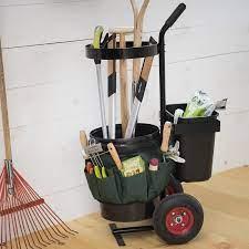 rolling garden tool storage caddy