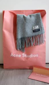 Acne Studios Canada Light Grey Melange New In Acne Scarf Acne Studios Fashion