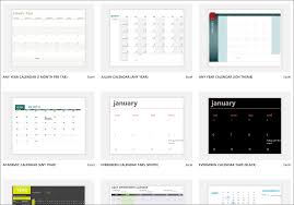 Microsoft Office Template Calendar