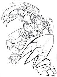Digimon Wargreymon Coloring Pages Jpg 768