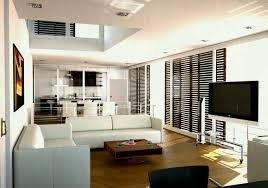 One Room Apartment Design Home Decor Small Studio With Cool Horizontal  Blinds On Glass Wall Picture