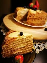Russian Honey Cake Medovik Recipe My Red Apron Food Blog