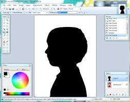 Paint Net Templates Simple 4 Step Photo Editing Silhouette Tutorial Everyday