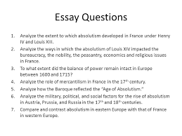 absolutism in western and eastern europe ppt video online  47 essay questions