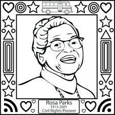 Small Picture Rosa Parks Coloring Page Coloring Book of Coloring Page