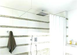 hanging shower curtain from ceiling hanging shower curtain from ceiling floor to ceiling shower curtain floor