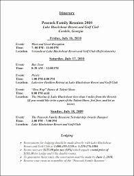 Family Reunion Program Templates Free Rome Fontanacountryinn Com