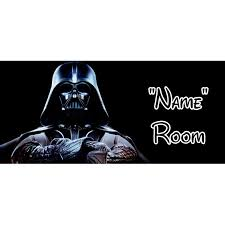 details about star wars personalised bedroom door sign any text name 3