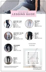 Zyia Legging Size Guide In 2019 Active Wear Daily