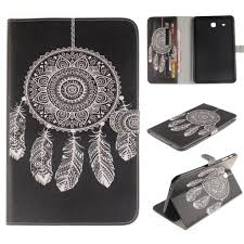 Fashion Black Bottom Wind Chime PU <b>Holster Tablet Protective</b> ...