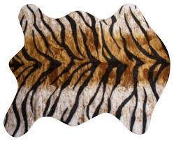 faux bengal tiger skin rug 4 10x6 8 large contemporary bath mats by ecofo