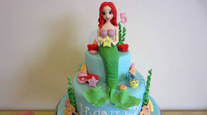 Ariel Cake Decorations Ariel The Little Mermaid Cake How To On My Channel Youtube