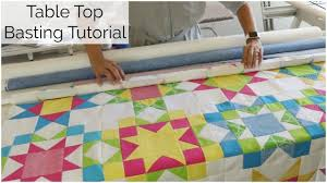 Table Top Roll Basting for Quilting - Excerpt from the Sunny Star ... & Table Top Roll Basting for Quilting - Excerpt from the Sunny Star Quilt  Along! Adamdwight.com