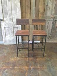 industrial wood furniture. reclaimed wood bar stools industrial stool barn with hand welded steel furniture