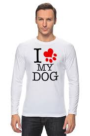 <b>Лонгслив I love</b> my dog #1375456 от Svetulek2117 по цене 1 194 ...