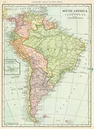 Vintage Map Of South America Old Design Shop Blog